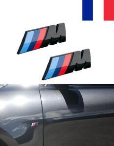[Lot de 2] Badge Logo Ailes Coté BMW M Sport Noir 45 mm Embleme 1 2 3 4 5 6