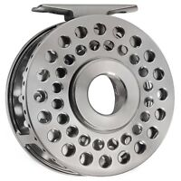 CNC Machined Aluminum Classic Click Stop Light Fly Fishing Reel 5/6 86mm