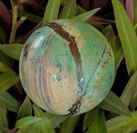 Western Australia Chrysocolla Malachite 88mm Rock Sphere Free Stand Jasper BBM1