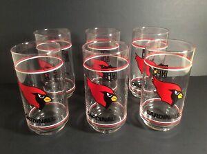 Phoenix Arizona Cardinals NFL Mobil Gas Promo Libbey Drinking Glass Tumbler (6)