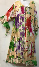 Nwt FUNKY STUFF floral patch rayon ROBE TOP DUSTER COVERUP 3X 26W Free shipping