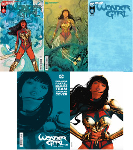 (2021) WONDER GIRL #1 4 VARIANT COVER SET! GRAMPA TEAM SPOT FOIL! BLANK! A & B!