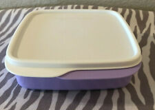 Tupperware Lunch-It Container Portion Divided Dish Airtight Seal Lilac 2 Cups