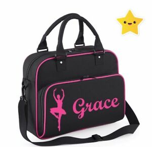 Personalised Dance Bag Ballet Gym Bag Sholder Bag School PE Kit Sack Sports Kids