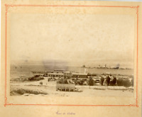 Algérie, Gare de Batna Vintage albumen print.  Tirage albuminé  17x22  Cir