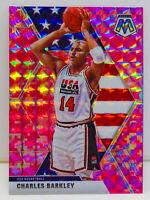 Charles Barkley 2019-20 CAMO PINK MOSAIC PRIZM Team USA Basketball Card #252 SP