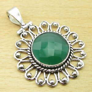 925 Silver Plated DESIGNER HANDMADE Pendant ! YELLOW AVENTURINE & Other Chioces