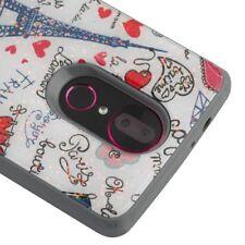 For Coolpad T-Mobile Revvl PLUS Paris Eiffel Tower Glitter Gel Hybrid Case Cover