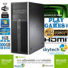 Ultra Fast HP Gaming Computer Core i5 8GB 2GB nVidia Geforce GT 730 Cheap PC