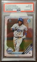 WANDER FRANCO 2019 BOWMAN CHROME PROSPECTS ROOKIE RC #100 PSA 10 GEM! TAMPA RAYS