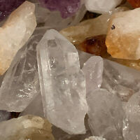 1000 Carat Lot of MIXED Crystal Points (Amethyst, Citrine, Qtz)+ a FREE Gemstone