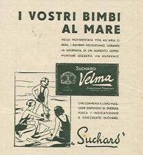 W3242 Cioccolato SUCHARD - I vostri bimbi al mare - Pubblicità 1935 - Advert.
