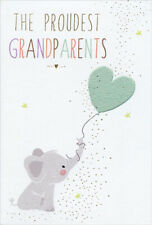 Elephant And Heart Sara Miller New Grandparents Baby Congratulations Card