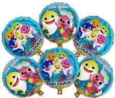 (6) pcs Baby Shark Birthday Balloons Party Supplies