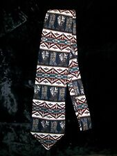ROPER Western Geometric Cowboy Boots Men's Wide Silk Neck Tie Necktie
