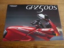 KAWASAKI  GPZ 500S EX500 D/E. MOTORBIKE BROCHURE