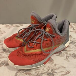 Adidas Crazylight Boost AW Sneakers Mid Top Red Silver Men's Sz 10.5