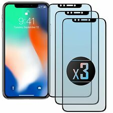 3x 5D iPhone X Glas Komplett Full Cover Folie Curved Echt DisplaySchutz HartGlas