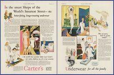 Vintage 1925 CARTER'S KNIT UNDERWEAR Undergarment Fashion Ephemera 20's Print Ad