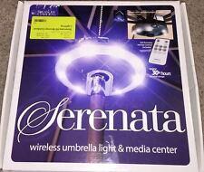 Treasure Garden Wireless Umbrella Light & Radio Media Bronze Serenata