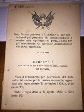 REGIO DECRETO IST 2 COMM PERSONALE AMMINISTRAZIONE E MEDICO CAPITANERIA DI PORTO