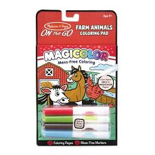 Melissa And Doug On The Go Magicolor Farm Animals Coloring Pad NEW Toys