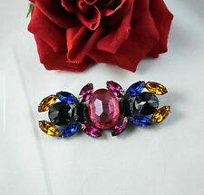 Pin Brooch Cat Rescue Gorgeous Modern Faux Rhinestone Colorful