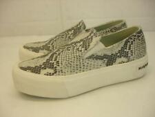 Women's sz 9 M SeaVees Baja Platform Mulholland Embossed Snakeskin Leather Shoes
