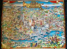 1983 Historical Map of New Orleans by Gayle Grout