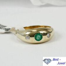 Runde Smaragd Ringe im Band-Stil mit echten Edelsteinen