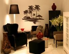 Beach and palm trees - highest quality wall decal stickers