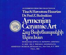 Bedoukian Hazarian Armenian Ceramic Art Exhibition Pottery Booklet