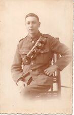 """""""Soldier with Ammunition Pouch"""" Photograph Postcard"""
