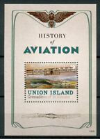 Union Island Gren St Vincent 2013 MNH History of Aviation Biplane 1v S/S Stamps