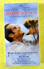 As Good as It Gets ~ New VHS Movie ~ Jack Nicholson Romantic Comedy Sealed Video