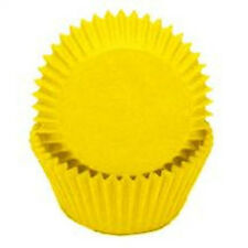 YELLOW  SOLID COLOR - GLASSINE CUPCAKE LINERS - 100 Ct. Standard Size
