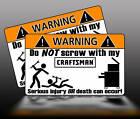 Craftsman Wrench Tool Black Toolbox Warning Sticker Box