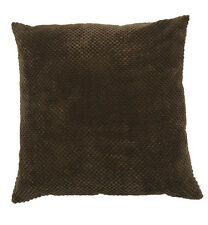 Chenille Spot Cushion Cover Chocolate (43x43cm)