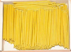 """500 Natural 100% Pure Beeswax Taper Candles ( 6"""") Natural Honey Scent Bulk"""