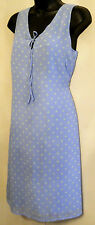 OLD NAVY Sun DRESS size 4 Baby Blue Polka Dot Sleeveless Summer Beach Sheath