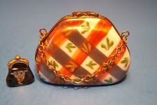 Purse Criss Cross,Coin Bag, authentic French Limoges Box ( New )