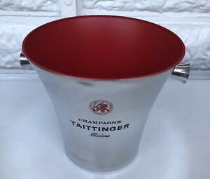 TAITTINGER CHAMPAGNE BUCKET COOLER UNUSED BUT  SOME MARKS SEE PICS