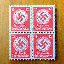 EBS Germany 1942 12 Pfennig Official Swastika Dienst BLOCK 4 Michel 172 MNH**
