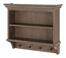 Modern Vanity Shelf Cabinet Storage Wall Mount Kitchen Bathroom Wood Peg Decor