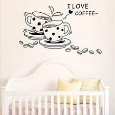 Removable I Love Coffee Cup Wall Sticker Art Decal Home Kitchen Cafe Decor JJ
