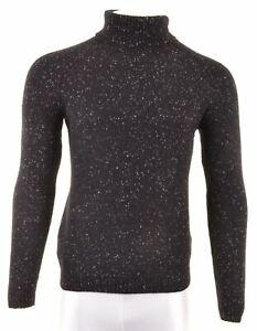 CARHARTT Mens Roll Neck Jumper Sweater Medium Black Wool DG05