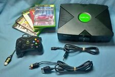 Xbox original console 1 controller 5 games bundle set cleaned inside and out