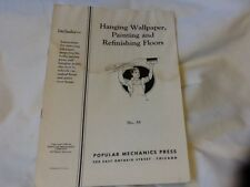 RARE 1940 POPULAR MECHANICS #38 How To Pamphlet Hanging Wallpaper Etc