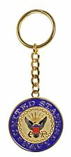 "U.S. Navy Logo 1.5"" Bronze Key Chain Ring"