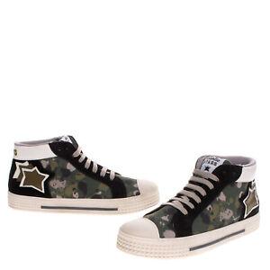 RRP€240 ATLANTIC STARS Kids Sneakers EU 39 UK 6 US 7 Contrast Leather Splattered